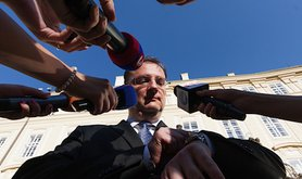 Czech PM Petr Necas resigns. Demotix/Petr Studnicny. All rights reserved.