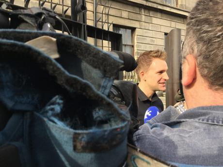 Max Schrems after winning his Judicial Review case against the Irish Data Protection Commissioner.
