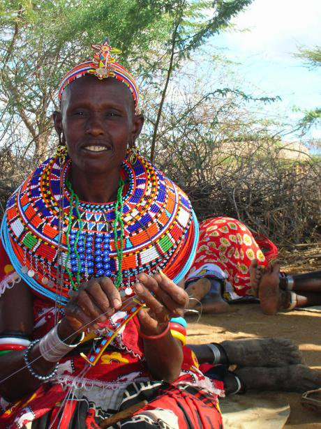 A woman in Umoja, Kenya.