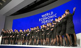 Swiss Hostesses open the World Economic Forum 2016. Valeriano Di Domenico/Flickr. Some rights reserved.