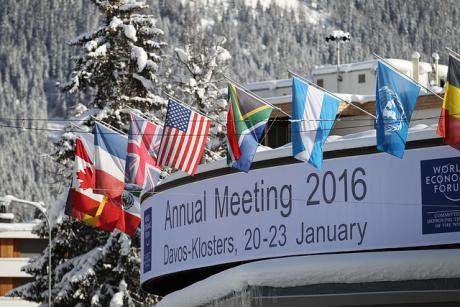 'A Day in the Life of a Refugee' at the World Economic Forum in Davos, 2016.