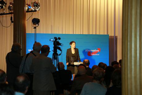 Frauke Petry, leader of Alternative for Germany, on 12 February 2016'.