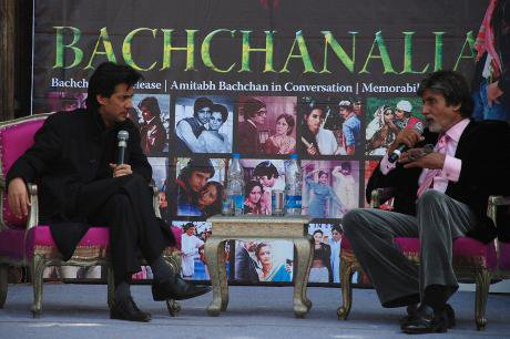 Amitabh Bachchan in conversation with Neville Tuli at the Jaipur Literature Festival 2009