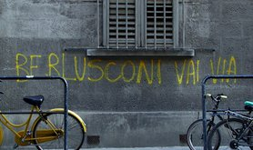 """Berlusconi go away"". Flickr/Nela Lazarevic. Some rights reserved."