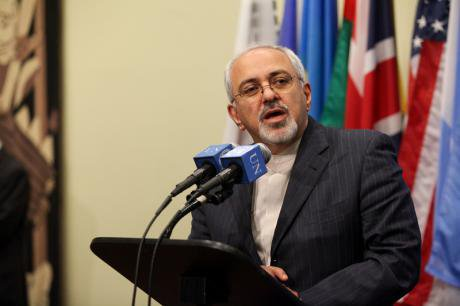 Iranian Foreign Minister Mohammad Javad Zarif in talks on Iran's nuclear program at the UN.
