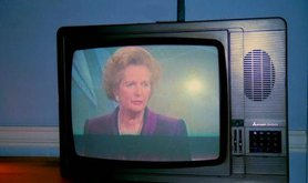 Margaret Thatcher on tv,