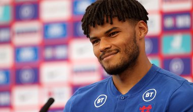 England's Tyrone Mings during the press conference at St George's Park, Burton upon Trent. Picture date: Tuesday June 15, 2021.