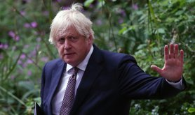London, England, UK. 5th July, 2021. UK Prime Minister BORIS JOHNSON returns 10 Downing Street after a press conference where he announced lifting of covid restrictions such as mask wearing and social distancing from 19th of July.