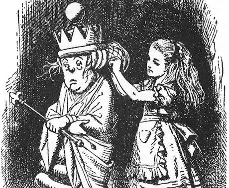 The White Queen, by John Tenniel. 1865. Wikimedia Commons/Public Domain. Some rights reserved.