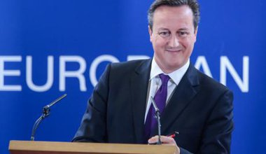 David Cameron at an EU summit in Brussels.