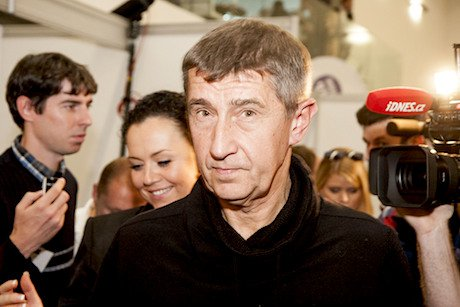 Czech entrepreneur turned politician Andrej Babis. Demotix/Petr Studničný. All rights reserved.