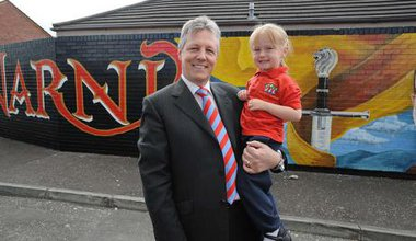Peter Robinson in East Belfast