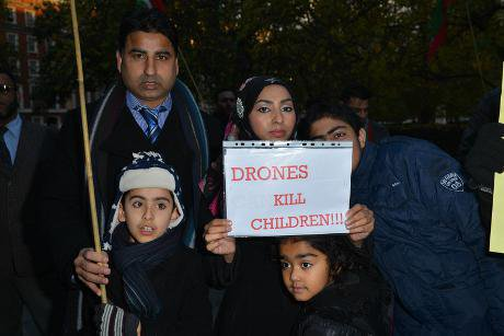 Coffins carried to US Embassy in protest over Pakistan drone attacks