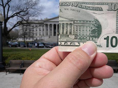 $10 and the US treasury.