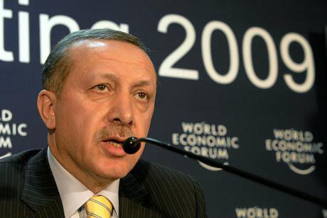 President Erdogan at the 2009 World Economic Forum