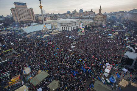 A overview on the protesters in the Maidan.