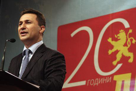 Nikola Gruevski. Demotix/Toni Arsovski. All rights reserved.