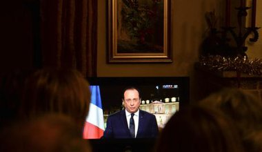 President Francois Hollande's New Year's tv speech for 2014