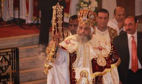 Pope Tawadros II of Alexandria, Christmas mass, 2014.