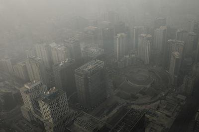 Beijing wreathed in smog. Demotix/Nicola Longobardi. All rights reserved.