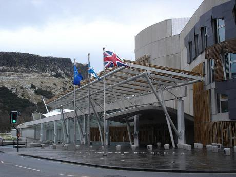 Scottish Parliament flags