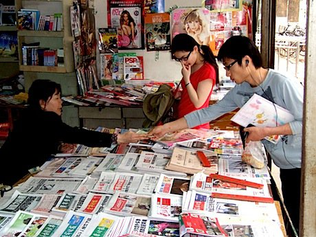 Buying newspapers in Beijing. Demotix/Alec Ash. All rights reserved.