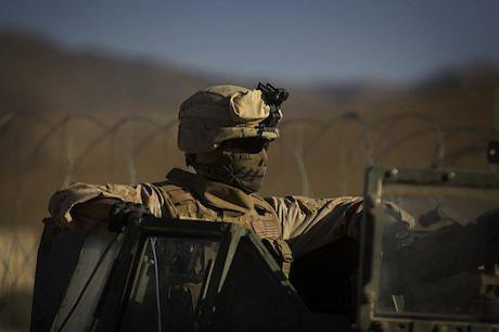 US marine, Farah province, 2009. Flickr/WBUR Boston's NPR News Station. Some rights reserved.