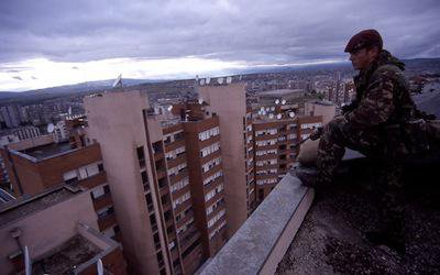 British soldier in Kosovo, 1999. Demotix/Andrew Chittock. All rights reserved.