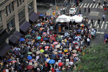 Ground zero mosque protest,2010.