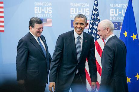 The March 2014 EU-US Summit in Brussels. Demotix/Olivier Vin. All rights reserved.