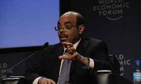 Meles Zenawi at the World Economic Forum 2010
