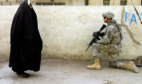 Public Domain: Street Security in Iraq by Mike Pryor US Army, 2007 (DOD 2007_070405)