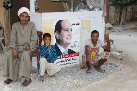 Egypt's poor welcome Sisi's presidency, May 2014.