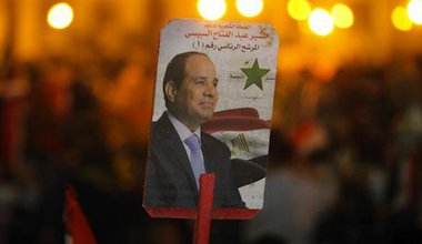 Egypt's new President, Abdel Fattah Al Sisi. Demotix/Emad Abdelrahman. All rights reserved.