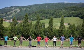 Human Chain in Irurzun for the right to decide for the Basque region