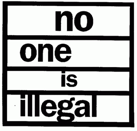 No-one is illegal logo.