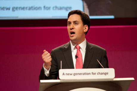 Ed Miliband addressing the Labour Party Conference, 2010