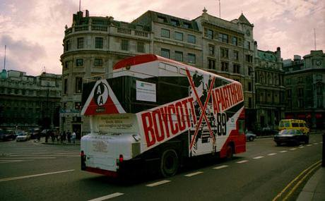 Boycott Apartheid Bus, London, UK, 1989.