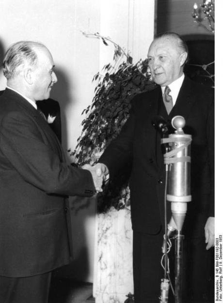 Monnet and Adenauer.