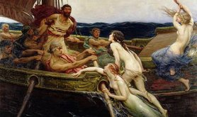 Ulysses and the sirens by Draper Herbert James (c.1909).