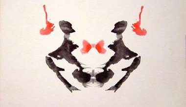 Third blot in the Rorschach ink blot test.
