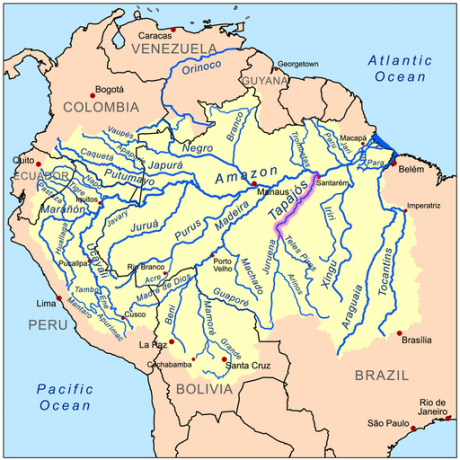 Tapajos River highlighted.