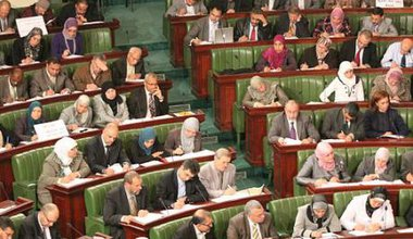 Ennahda group at the Tunisian Constituent Assembly, 2011.