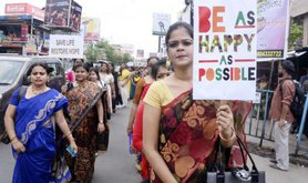 National Institute of Creative Performance organised a awareness rally regarding prevention of suicide.