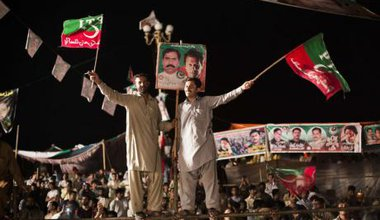 Protest against Prime Minister Nawaz Sharif in Islamabad.