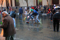 No time to waste as Tahrir Square gets cleaned