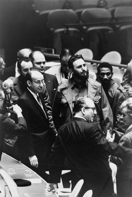 Fidel Castro at the UN General Assembly, 1960.