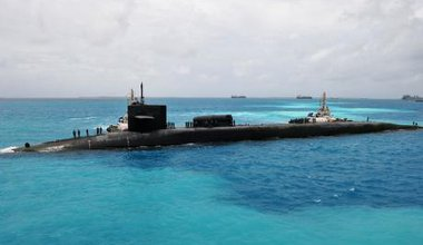 US submarine in Diego Garcia