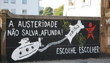 Austerity graffiti in Portugal. Flickr/anastaz1a. Some rights reserved.