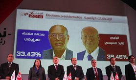 First round election results. Demotix/Chedly Ben Ibrahim. All rights reserved.